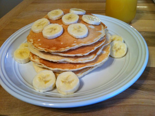 easy banana pancakes