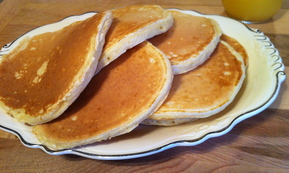 how to make buttermilk pancakes from scratch without buttermilk
