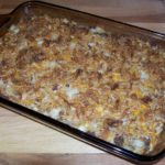 Baked Egg Casserole with Cheese, Onions, and Pepper