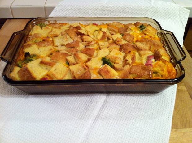 ham and cheese breakfast casserole make ahead breakfast casserole easy ...