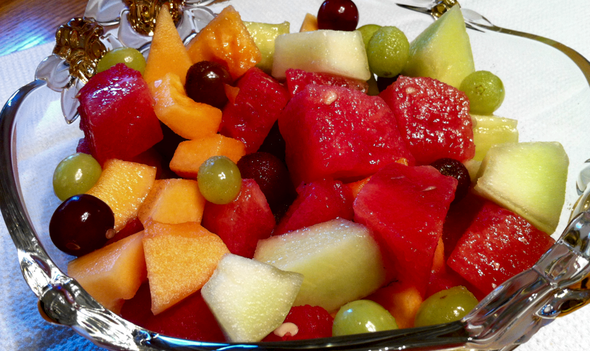 melon and grape fruit salad