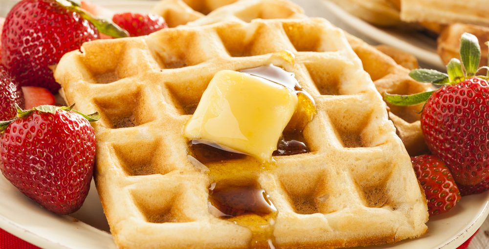 make waffles for a large group