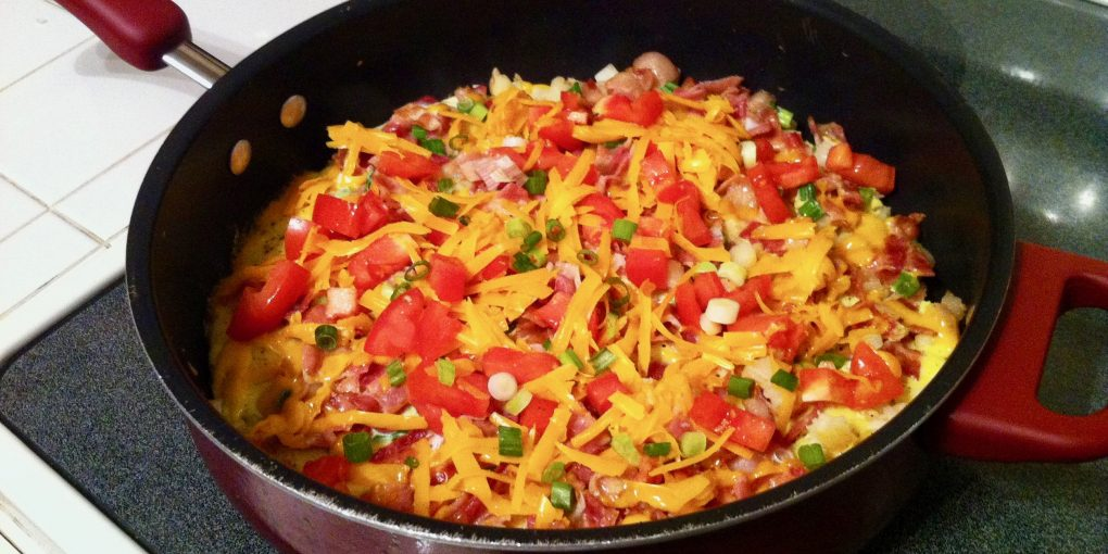 egg and hash brown breakfast skillet
