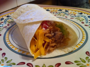 grilled chicken burrito ready to eat