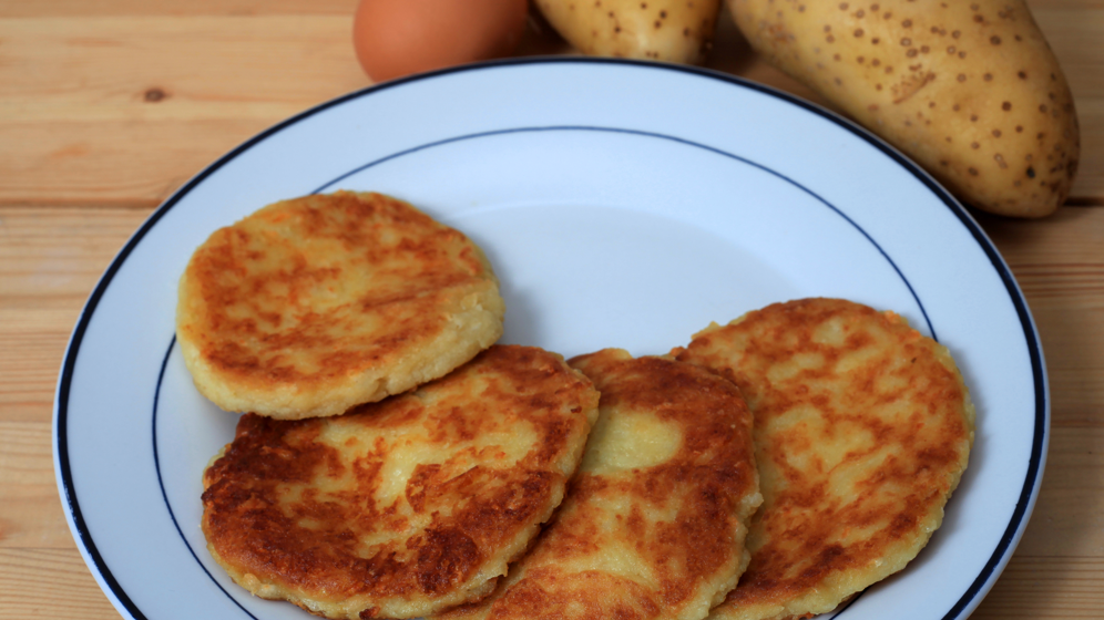 Savory potato pancakes for brunch vintage cooking potato pancakes ccuart Choice Image