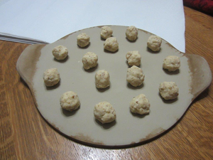 Russian teacake cookies ready for the oven.