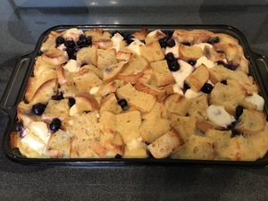 blueberry French Toast ready for oven