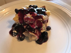 Blueberry French Toast ready to eat
